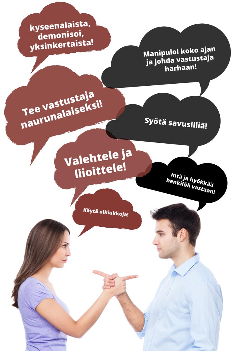 Huonon väittelijän ominaisuuksia